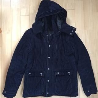 紺色のフードコート メンズ