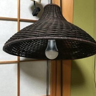 アジアン風 籐 照明2