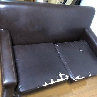 革張り2Pソファあげます。
