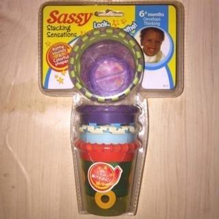 新品 サッシー♪ガラガラ 歯固 ベビーおもちゃ 知育玩具