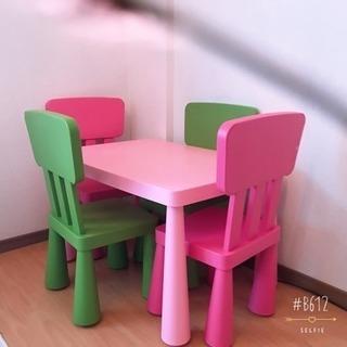 ikea♡ テーブル 椅子4脚 セット