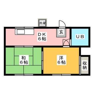 たつみ荘(201号) 2DK 立場駅徒歩20分 賃料:35,000円