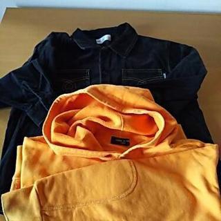長袖シャツ、コムサフード付きトレーナー 120㎝