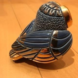 海外製 金彩 陶器のフクロウの置物 梟 小物 − 千葉県
