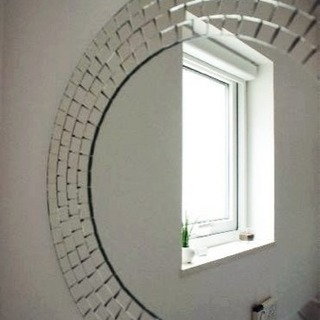 IKEA TRANBY 円形ミラー