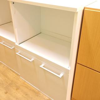 北大前! 札幌 引取 小型食器棚 キチンラック キッチンボード 白...
