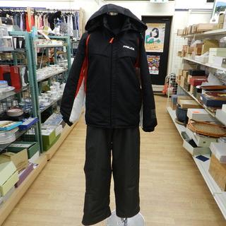 スキーウェア 150㎝ 上下セット ジュニア ブラック/黒…