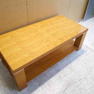 木製ローテーブル『小傷、使用感あり』【リサイクルショップサルフ】