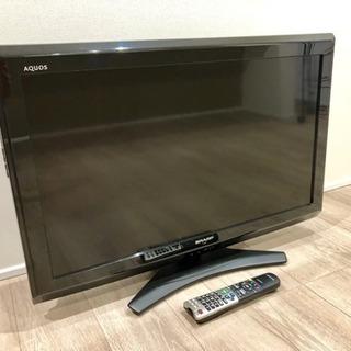 SHARP AQUOS 32型TV アンテナケーブル付