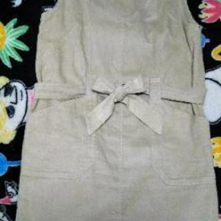 Crisp コーデュロイのサロペットスカート