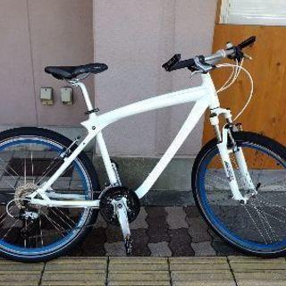 【BMW 製】26吋自転車 アルミ/27speed/ホワイト