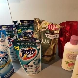 11本。洗剤、シャンプー、ボディーソープ