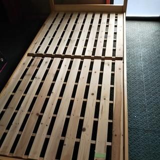 [簡易ナチュラル天然木ベッド]⁑リサイクルショップヘルプ