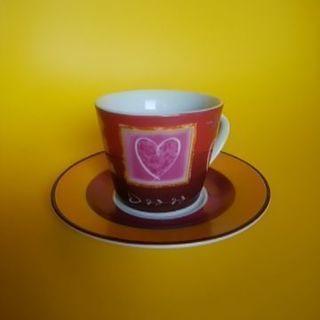 コーヒーカップ(ハート柄)
