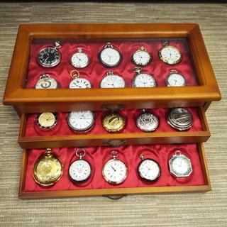 懐中時計ケースと懐中時計 30個セット(内15稼働品)