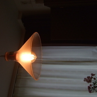 ガラス製 北欧風照明+エジソンバルブLED電球2個付き *差し込...