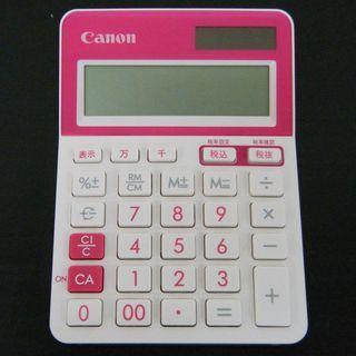 ピンクで可愛いCANONの電卓 100円