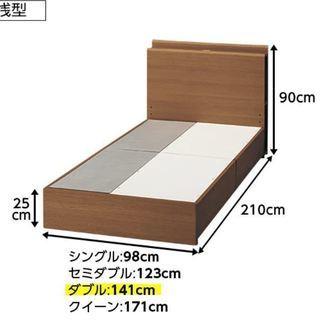 ベッドとマットレスのサイズについては、写真を参照してください