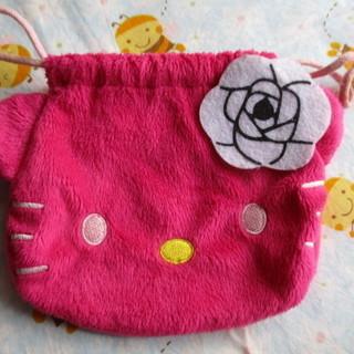 キティちゃん ミニ巾着 ピンク