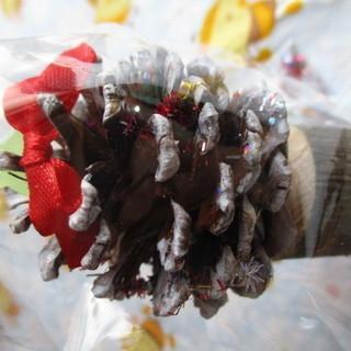 【最終値下げ 処分品】 ミニサイズ まつぼっくり クリスマスツリー