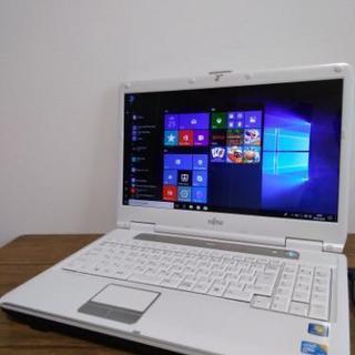 美品!富士通FMV最新Windows10ノートパソコンoffice