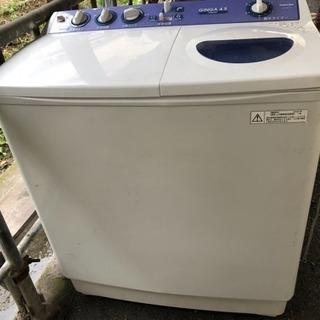 【お取引終了】ワンコインで!希少二層式洗濯機