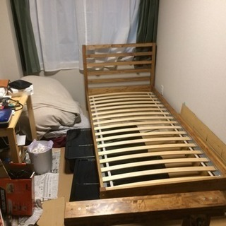 【取りに来れる方限定】無料!IKEA ベッド&マットレスセット ...