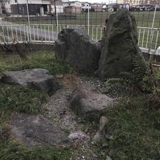 庭石 夫婦石 飛び踏み石