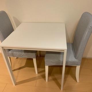 IKEA ダイニングテーブル チェア2脚セット