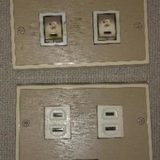 壁用照明スイッチ コンセント(中古)