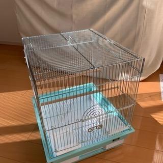 鳥籠 バードゲージ  塩ビカバー付き!! ほぼ未使用。美品です。