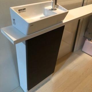 トイレカウンター付き  手洗い  リクシル シンク
