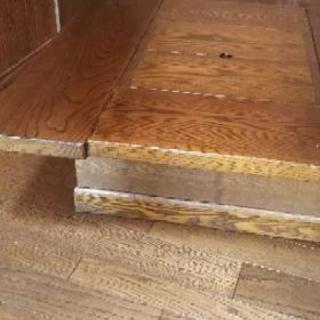 炉付テーブル 欅無垢材