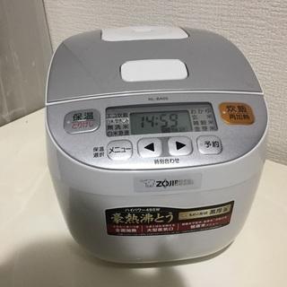 美品 象印 炊飯器 マイコン式 3合 ホワイト NL-BA05-...