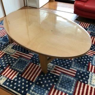 値下げ! 木製センターテーブル 楕円形