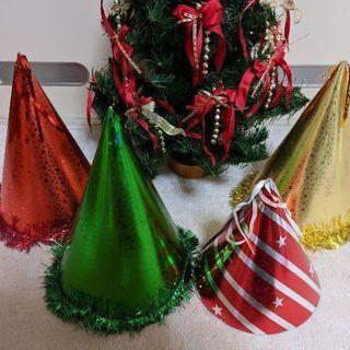 D:パーティ用三角帽。クリスマス、誕生日、各種イベントに。まとめ...