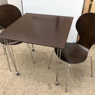 ダイニングセット テーブル 椅子二脚
