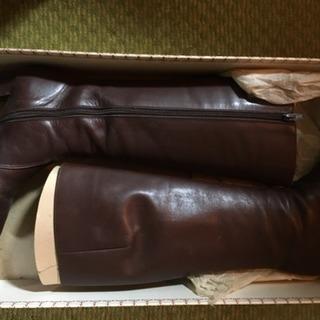 [中古]ロングブーツ ブラウン 22.5cm