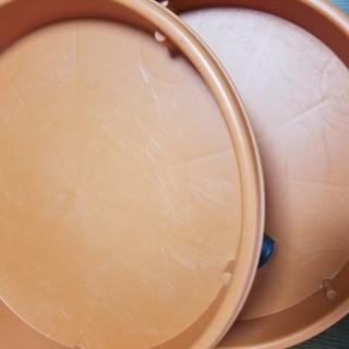■キャスタープレート34型2個セット■園芸鉢皿プレート皿動く植木鉢