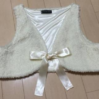 入手困難!超かわいいリボン付ドレス用「ボレロ」高級パーティー・イ...