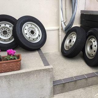 【中古バリ山】軽四タイヤ・ホイールSET スタッドレス 145/...