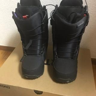 *美品BURTONスノーボードブーツ黒22cmエメラルド*