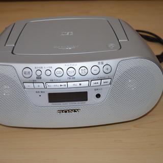 SONY CDラジカセ ZS-S10CP シルバー 良品