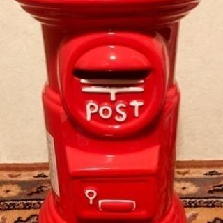昭和レトロな郵便局ポスト貯金箱(新品)