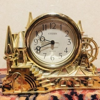 CITIZEN 黄金置き時計