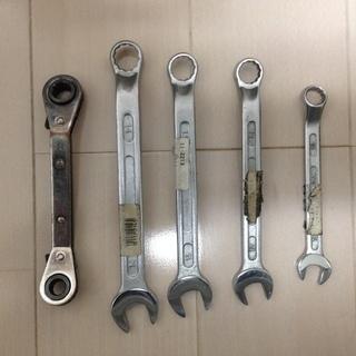 コンビネーションレンチセット 板ラチェット 5本セット 工具 メ...