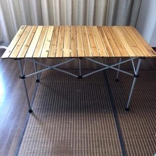 美品 コールマン ウッドテーブル120