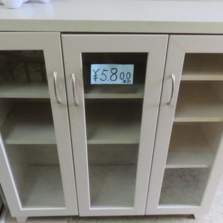 食器棚 白 88×30×91