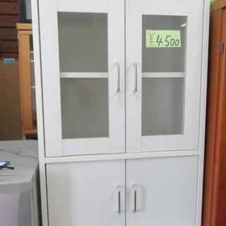 食器棚 白 ミニ 60×88×39