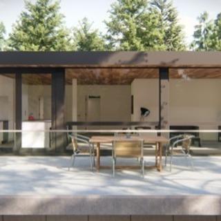 デザイン性の高いコンテナハウスで店舗、宿泊施設